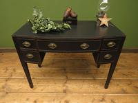 Antique Black Painted Console Table or Desk with Drawers, Gothic Shabby Chic (15 of 16)