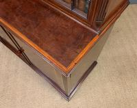Good Edwardian Inlaid Mahogany Bookcase (15 of 16)