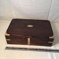 Antique Victorian Campaign Collectors Box