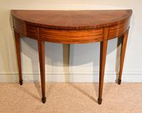 Demi Lune Console Table Sheraton Revival Sunburst Design (6 of 6)