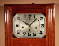 Art Deco Westminster Girod Carillon Oak, Rosewood & Fruitwood Wall Clock French c.1940 (3 of 9)