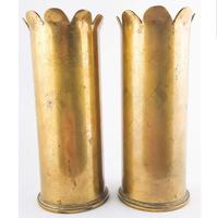 WW1 Trench Art 1918 Pair of Shells (2 of 5)