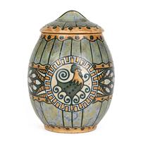 Charles Catteau Boch Freres Keramis Art Deco Belgian Pottery Lidded Cockerel Jar