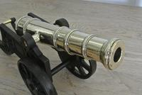 """Fine Pair of Early 20th Century 18"""" Brass & Cast Iron Toy Cannons Hall Cannons (3 of 11)"""