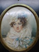 Early 19th Century Portrait of Mademe De Rohais (2 of 3)