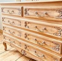 French Antique Style Chest of Drawers / Louis XV Style Raw Oak Chest (8 of 9)