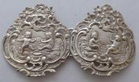 Victorian Maternity 1898 Hallmarked Solid Silver Nurses Belt Buckle (2 of 8)