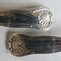 Fabulous Pair of George III Silver King's Pattern Salt Spoons (5 of 6)