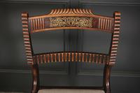 Set of 6 Regency Brass Inlaid Dining Chairs (9 of 16)