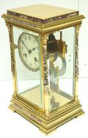 Awesome Antique French Champlevé Ormolu Bronze 8 Day Striking Mantel Clock c.1880 (10 of 13)