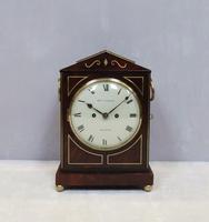 Regency Mahogany Bracket Clock by Thomas Connald (8 of 8)