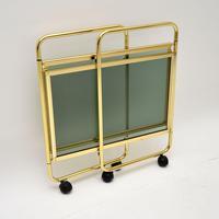 Vintage 1970's Italian Brass Folding Drinks Trolley MB Italia (4 of 8)
