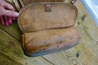 19th Century Leather Game Bag & Cartridge Case, Shooting, Hunting (3 of 5)
