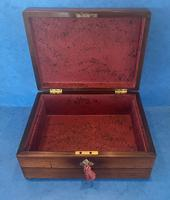 William IV Rosewood Jewellery Box with Mother of Pearl Inlay (12 of 12)