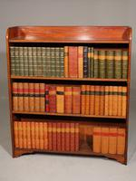 Edwardian Period Mahogany Open Bookcase (2 of 4)