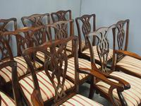 Set of 12 Georgian Style Mahogany Dining Chairs (8 of 12)