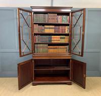 Good Edwardian Inlaid Mahogany Bookcase (4 of 16)