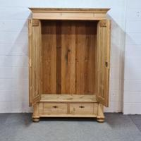 Small Old Pine Wardrobe Dismantles (2 of 5)