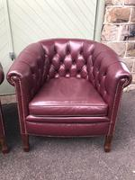 Pair of Antique Leather Gentleman's Club Armchairs (3 of 8)