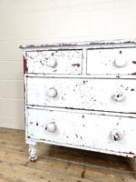 Small Distressed White Painted Victorian Chest of Drawers (5 of 10)