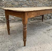 Large Antique Pine Farmhouse Table on Turned Legs (14 of 19)