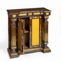 Pair of Regency Brass Inlaid Rosewood Side Cabinets (3 of 17)
