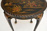 Antique Lacquered Chinoiserie Occasional Table (11 of 12)