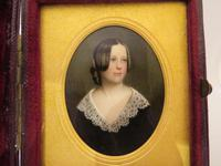 Miniature Portrait Victorian Beauty In original Travel Case (7 of 7)