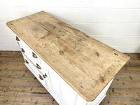 Distressed Antique Pine Cupboard with Painted Base (9 of 10)