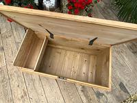 Wonderful Restored Old Pine Blanket Box / Chest / Trunk / Coffee Table (7 of 8)