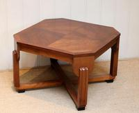 Low Walnut Art Deco Table (12 of 12)