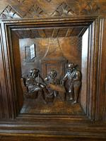 Victorian Antique Green Man Carved Oak Settle / Hall Seat / Monks Bench (8 of 10)