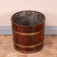 Pair Of Large Oval Oak Brass Bound Log Buckets (3 of 21)