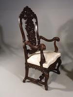 Remarkable Pair of Late 19th Century Walnut Throne Chairs (2 of 10)