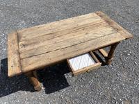Rustic Bleached Oak Coffee Table (3 of 11)
