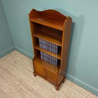 Quality Small Edwardian Figured Mahogany Antique Waterfall Bookcase (3 of 6)