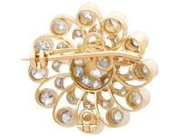 3.76ct Diamond & 9ct Yellow Gold Brooch / Pendant - Antique c.1880 (5 of 9)