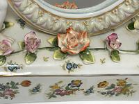 Pair of Small Dresden Victorian Style Porcelain Cherub Table Mirrors (16 of 60)