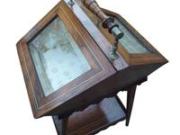 Attractive & Unusual Victorian Rosewood Display Cabinet c.1890 (3 of 3)
