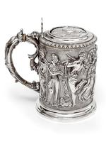 Ornate Victorian Electro Formed Silver Plated Lidded Tankard with Figural Scenes of Musicians (2 of 13)