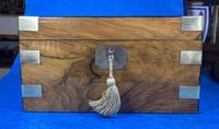 Victorian  Walnut Brassbound Writing Slope (4 of 19)