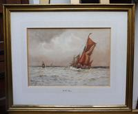 Watercolour Seascape Off Maplin Sands Listed Artist William Henry Pearson (7 of 10)