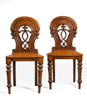 Pair of Early Victorian Period Hall Chairs (2 of 3)
