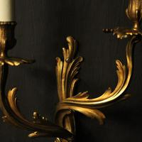 French Pair Of Bronze Antique Wall Sconces Oka (4 of 10)