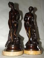 Pair of Victorian Bronzes - Diana Bathing (4 of 9)
