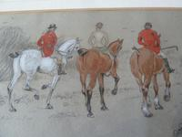 6 Superb Original Paintings of a Hunt Scenes- 19thC Monogrammed (11 of 12)