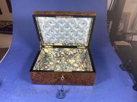 19th Century French Burr Cedar Inlaid Box (7 of 11)
