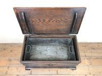 Antique Oak Coal Box or Scuttle (3 of 11)