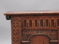Early 18th Century Carved Oak Coffer with Three Panel Front (8 of 8)