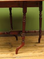 Antique 19th Century Sutherland Table, Drop Leaf Occasional Table for afternoon tea (8 of 17)